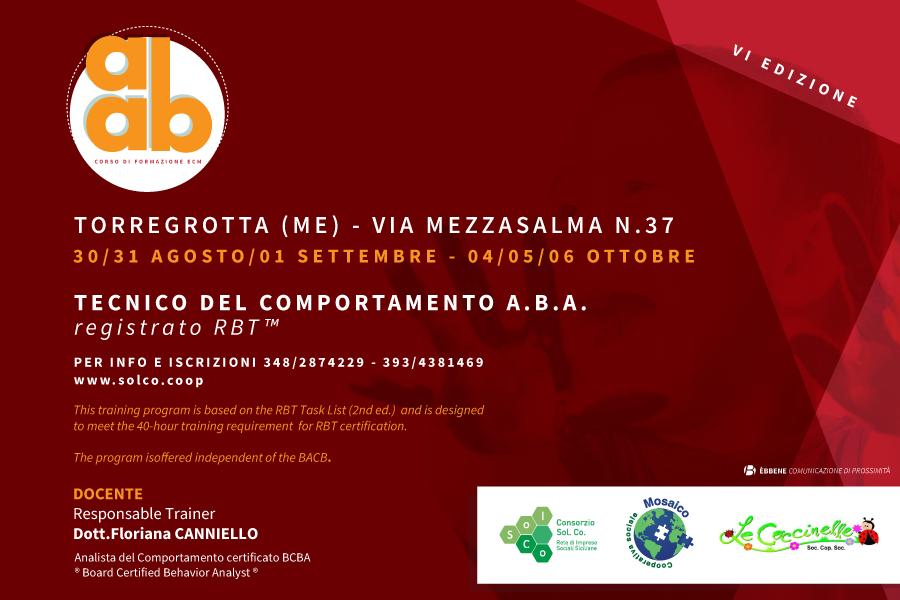 """Da-Catania-a-Messina,-nuovo-corso-di-formazione--per-""""Tecnico-del-comportamento-A.B.A.---certificato-RBT™"""